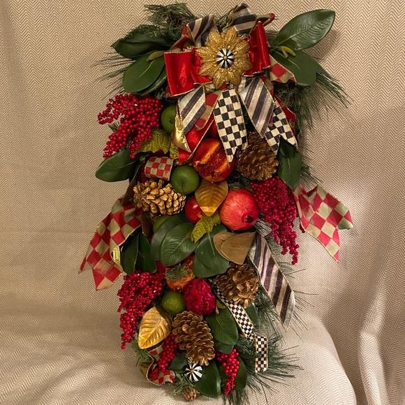 MacKenzie Childs Christmas Door Hanger